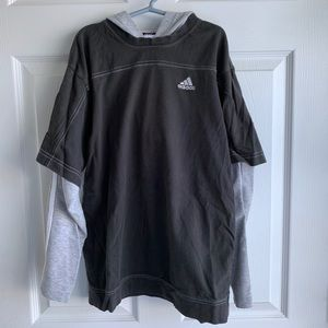 Boys Adidas Layered Black & Gray Shirt